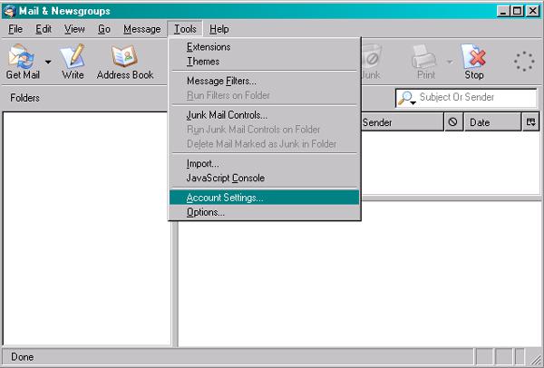 Secure Email,IMAP Mozilla Thunderbird SSL