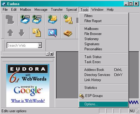 Secure Email, Secure Email Configuration For Eudora SSL